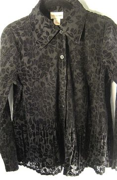 Toffee Apple Women Blouse Size Medium Flocking Black. #ToffeeApple #Blouse #EveningOccasion