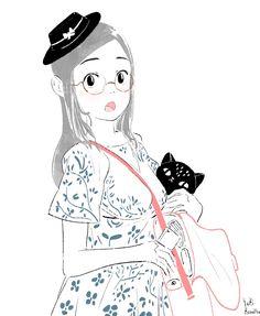 Yuki.Kawatsu Illustration — 今日もお疲れ様でした☆  夜中にこっそりコソコソ…_φ(・3・