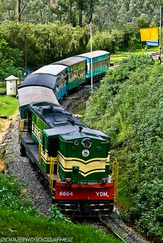 Nilgiri Mountain Railway (Train Runs Between Coimbatore to Ooty station) - Tamil Nadu, India. Train Tracks, Train Rides, Cool Places To Visit, Places To Go, Diesel, Tramway, Trains, Amazing India, Ooty