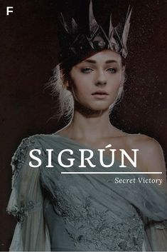 Sigrun meaning Secret Victory Old Norse names S baby girl names S baby names fem. Sigrun meaning Secret Victory Old Norse names S baby girl names S baby names fem names girl elegant names girl pretty names girl vintage nam Baby Name Book, Strong Baby Names, Baby Girl Names Unique, Unique Names, Southern Girl Names, Country Names, Female Character Names, Female Fantasy Names, Old Female Names