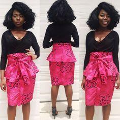 Afrikanische Frauen Rosa und schwarzen Schleier Knie von Veroexshop