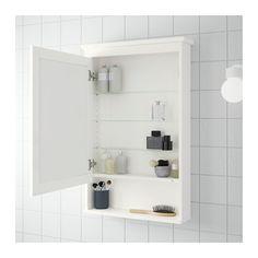 HEMNES Mirror cabinet with 1 door, white white 24 3/4x6 1/4x38 5/8