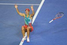 Kerber aún no ha recibido el trofeo que la acredita como campeona Abierto de Australia