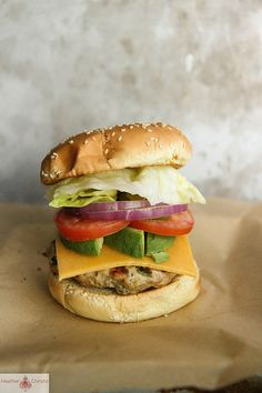 Blue Cheese Stuffed Turkey Burger. Things I wish I could eat right now...