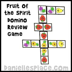 Fruit of the Spirit Bible Game - Fruit of the Spirit Bible Review Game from www.daniellesplace.com