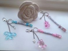Baby changing bag personalised keyring charm and dummy holder - The Supermums Craft Fair
