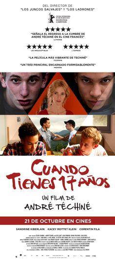 """Campaña de publicidad en los quioscos de prensa ubicados estrategicamente cerca de las salas donde se estrena la película, para promocionar el estreno de la película """"Cuando tienes 17 años"""", del director André Téchiné."""