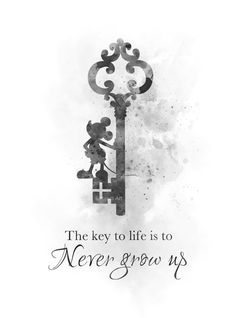 ART PRINT Never Grow Up Quote Mickey Mouse, Wall Art, Disney Gift Nursery, B & W Mickey Mouse Sayings, Mickey Mouse Tattoos, Mickey Mouse Art, Disney Key Tattoo, Disney Tattoos Small, Mickey Mouse Wallpaper Iphone, Wallpaper Iphone Cute, Disney Collage, Disney Wall Art