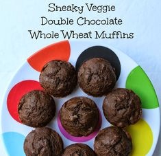 Get picky eaters to eat vegetables with Sneaky Veggie Double Chocolate Whole Wheat Muffins - Bare Feet on the Dashboard