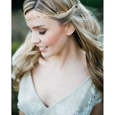 Wedding Inspiration from debbiecarlisle.com My hand wired headpieces can be moulded into and around your hair for an effortlessly beautiful, natural  look - lots more pictures via the link in my bio x