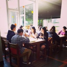 Sep. 25, 2014. 'Eat and Speak' Event: Japanese - Chinese learners and speakers at lunch.
