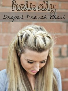 Try this draped French braid and other fun hairstyles here!