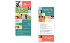 Non Profit Association for Children - Rack Card Template Design