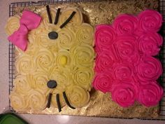 hello kitty cupcake cake - Google Search