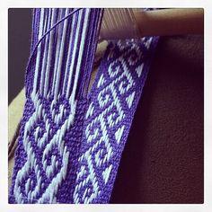 purple weaving, reminds me of my 1970s woven belts, jellycrys's photo on Instagram