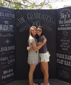 Graduation chalkboard photo board