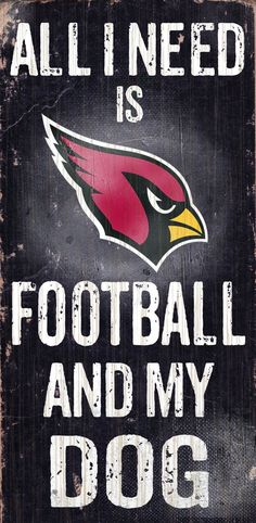Fan Creations Sign Arizona Cardinals Football and My Dog, Multicolored