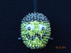 SALE:   Halloween Frankenstein sequined and beaded Ornament by NanaJansXmasCrafts on Etsy