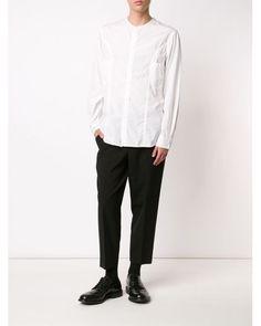 yohji yamamoto men triple collar shirt | Yohji yamamoto Square Collar Shirt in White for Men - Save ...