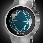 LCD Watch Design with Polygon Time Display. Time, Date, Alarm, Animation: Kisai Polygon