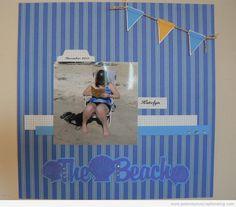 Beach Scrapbooking Layout Idea