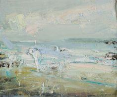 Hannah Woodman 'Sennen surf',2011,Oil on board, 25x30cm,£1150