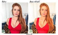 5 Mobile Lightroom Presets GINGER for red hair girl gift Red Orange Hair, Hair Color Purple, Brown Hair Colors, Straight Brunette Hair, Brown Blonde Hair, Dark Hair, Medium Hair Styles, Curly Hair Styles, Natural Red Hair
