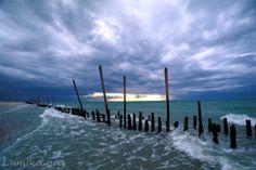 Scenic Photo of the Campeche Sound Coastline - Campeche, Mexico