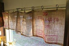 burlap, burlap curtains, no sew curtains, diy curtains, diy burlap curtains No Sew Valance, Burlap Valance, No Sew Curtains, Rod Pocket Curtains, Cafe Curtains, Kitchen Curtains, Farmhouse Curtains, Valance Curtains, Window Valances