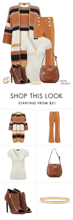 """""""#553 Long Cardigan"""" by octobermaze ❤ liked on Polyvore featuring Warehouse, Clover Canyon, Jane Norman, Chloé, Tom Ford and Kate Spade"""
