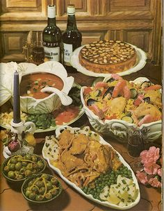 A Spanish Buffet!  (Encyclopedia Of Creative Cookery, 1970s)