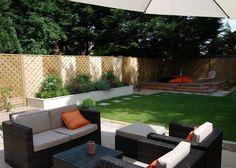 Low-maintenance garden: modern Garden by Christine Wilkie Garden Design Low Maintenance Yard, Low Maintenance Garden Design, Raised Patio, Raised Beds, West London, Layout Design, Design Ideas, Logo Design, What Is Gardening