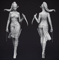ArtStation - Dark Elf Assassin, Adam Fisher