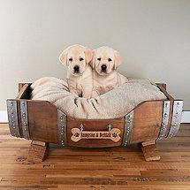 Personalized Wine Barrel Pet Bed Large- Gina, Vino and Roma need this! Online Pet Supplies, Dog Supplies, Wine Barrel Furniture, Cool Dog Houses, Diy Dog Bed, Dog Furniture, Furniture Ideas, Furniture Companies, Dog Rooms