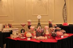 Paris themed candy table we made for a Bat Mitzvah - New Jersey www.candyliciousnj.com