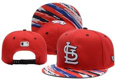 MLB St Louis Cardinals Red Snapback Hats Brim Colorful Stripes|only US$6.00 - follow me to pick up couopons.