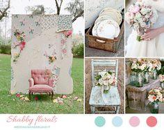 shabby chic floral wedding inspiration http://weddingwonderland.it/2015/03/matrimonio-shabby-chic.html