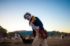 This guy clowning around at Pitch Music festival