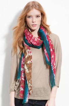 Lulla Collection by Bindya Tie Dye Scarf available at Nordstrom