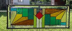 Southwest Stained Glass Panel Signed Amp Numberd by Registered Artist | eBay