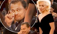 Leonardo DiCaprio's priceless Golden Globes reaction to Lady Gaga barging past | Daily Mail Online