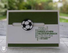 Geburtstagskarte, Spinner Card, Fußball