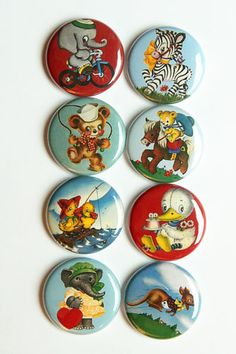 Vintage Animals Flair by aflairforbuttons on Etsy, $6.00