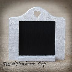 SET OF 6 Table Number Chalkboard with Heart Shape
