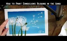 How To Paint A Dandelion: 10 Amazing and Easy Tutorials! Painting Videos, Easy Paintings, Painting Tricks, Beginner Painting, Painting Techniques, Stencil Painting, Painting & Drawing, Dandelion Painting, Flora