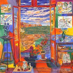 Henri Matisse ( peintre Français ) 1869 1954 Studio of Matisse in Collioure 1905 Henri Matisse, Matisse Art, Matisse Paintings, Raoul Dufy, Post Impressionism, Art Moderne, Art Abstrait, Art Design, Design Ideas