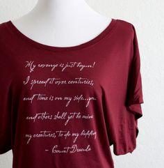Count Dracula Literary Shirt Bram Stoker Quote