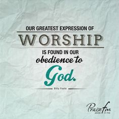 OBEDIENCE Is A Big Word