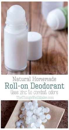 The best DIY projects & DIY ideas and tutorials: sewing, paper craft, DIY. DIY Skin Care Recipes : Ditch using deodorants filled with toxic ingredients, and make your own natural, homemade roll on deodorant that is easy to use Homemade Deodorant, Homemade Skin Care, Homemade Beauty Products, Diy Skin Care, Diy Natural Deodorant, Lush Products, Homemade Rolls, Natural Beauty Recipes, Homemade Cosmetics