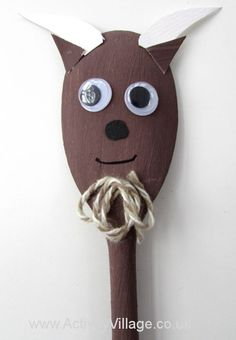 Paint a wooden spoon brown and then turn it into this gorgeous goat, for puppet shows (along with our other wooden spoon animals) or just for display. Perfect for Year of the Goat. Christmas Crafts For Toddlers, Toddler Crafts, Preschool Crafts, Diy Crafts For Kids, Fun Crafts, Arts And Crafts, Craft Ideas, Wooden Spoon Crafts, Wooden Spoons